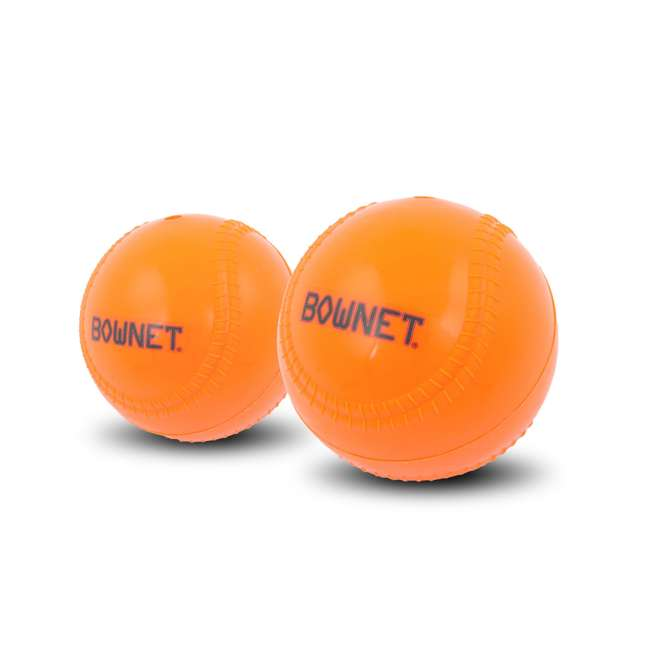 6 x BN-BALLAST BB Bownet 14-Ounce Weighted Pitching Baseball, Orange (6 Pack) 1