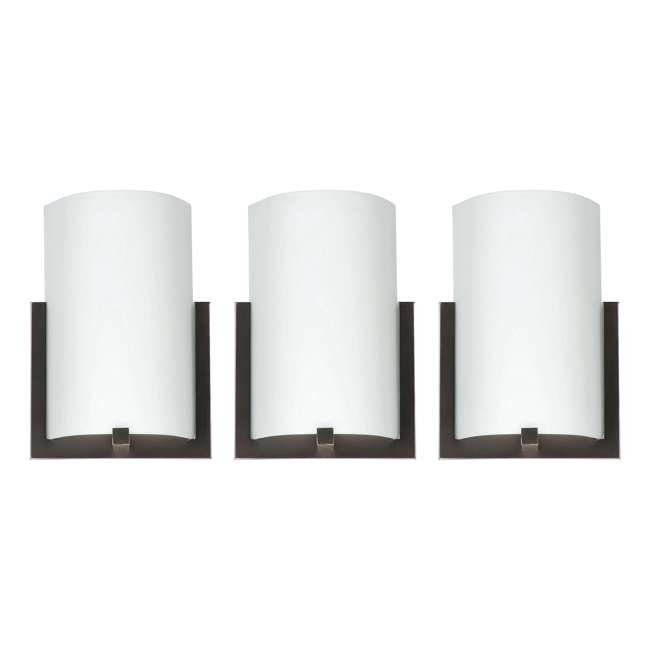 3 x PLC-FL0003870 Philips Forecast 12-Inch Bow 3-Light Wall Sconce, Bronze (3 Pack)