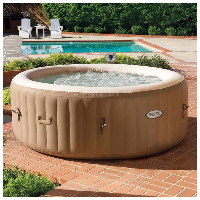 28403E + 28501E Intex Pure Spa Inflatable 4-Person Hot Tub with Headrest 3