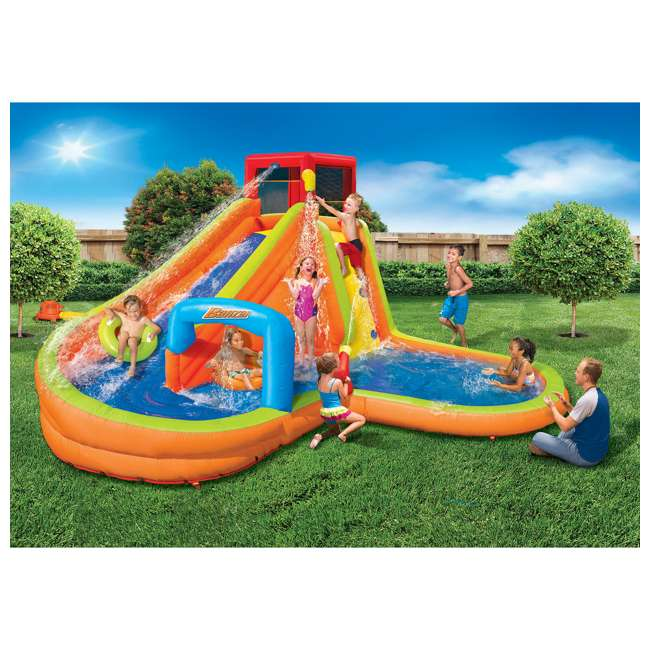 BAN-90354-U-A Banzai Kids Inflatable Outdoor Lazy River Adventure Water Park (Open Box) 1