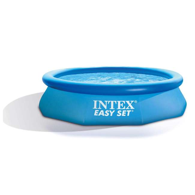 4 x 28120EH Intex Easy Set 10ft x 30ft x 30in Above Ground Inflatable Round Swimming Pool (4 Pack) 1