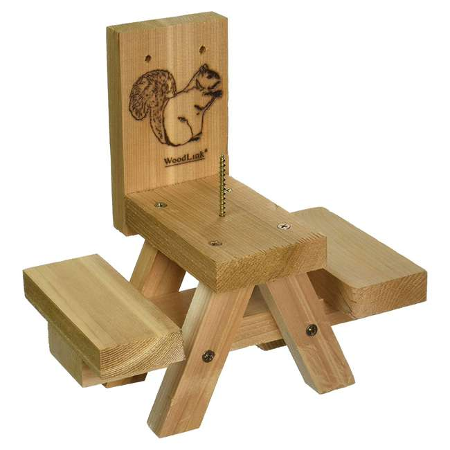 24703 Woodlink Wooden Mini Picnic Table 1 Ear Corn Cob Squirrel Feeder Feeding Station