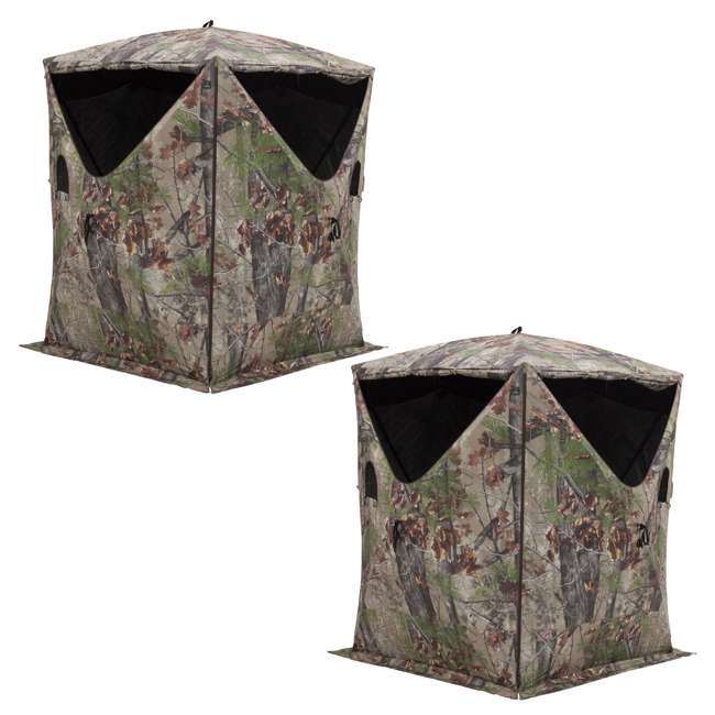 BARR-BM12BW Barronett Blinds Big Mike 2.0 Backwoods 3 Person Ground Hunting Blind (2 Pack)