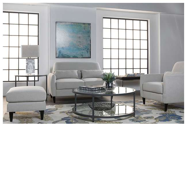 STDN-71003 Studio Designs Home Contemporary Camber Round Glass Coffee Table (2 Pack) 1