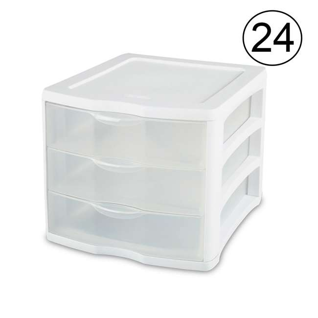 24 x 17918004 Sterilite ClearView 3 Drawer Storage Cabinet (24 Pack)