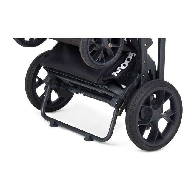 8207 + 9107 Joovy Caboose S Stroller with Canopy, Black Melange + Caboose Add On Rear Seat 4