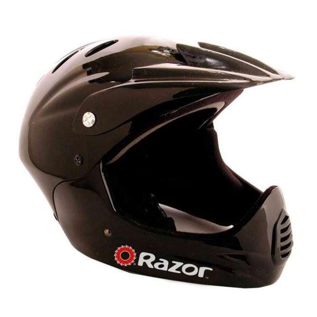 15120040 + 97775 + 96785 Razor Blue Pocket Rocket With Black Sport Helmet And Pad Set  2