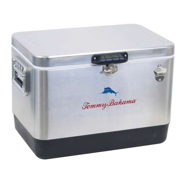 RIOTC54SSTB-U-A Tommy Bahama 54-Quart Stainless Steel Cooler, Silver (Open Box)
