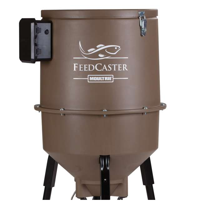 moultrie 30 gallon feedcaster pro fish feeder w 6 volt