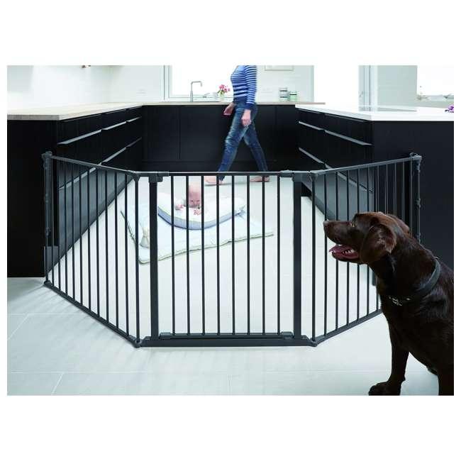 BBD-56226-10600 BabyDan Flex 35.4-87.8 Large Size Metal Safety Baby Gate & Room Divider, Black 3
