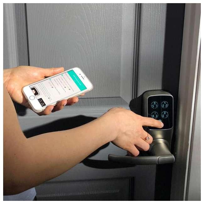 PGD728WMB Lockly Secure Pro Digital Keypad Biometric Smart WiFi Deadbolt Door Lock, Black 9
