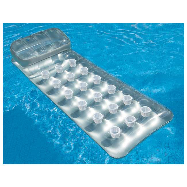 3 x 58894EP INTEX 18-Pocket Suntanner Lounge Floating Lounger (Open Box) (3 Pack) 1