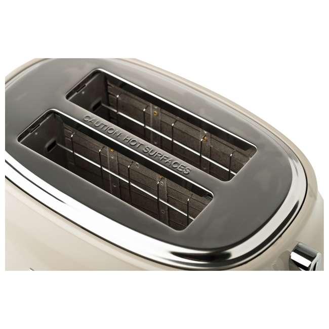 75003-HD Haden 75003 Dorset Wide Slot Stainless Steel Retro 2-Slice Toaster, Putty Beige 5