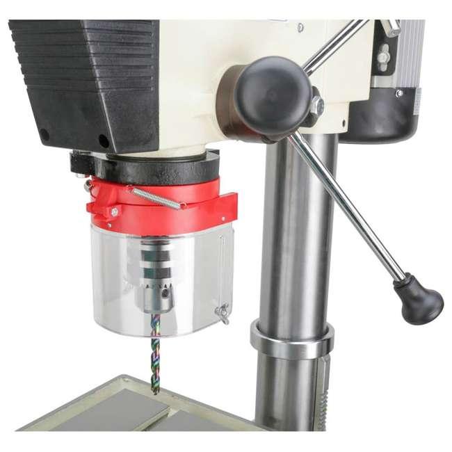 M1039 Shop Fox M1039 20 Inch 1.5 Horsepower Floor Drill Press with Work Light, White 3