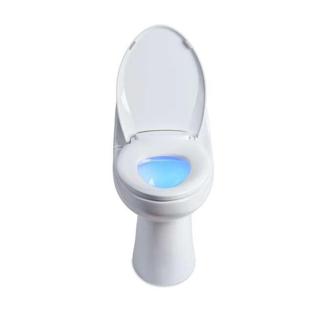 L60-EB Brondell LumaWarm Heated Nightlight Toilet Seat, Biscuit 1