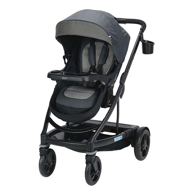 2065103 Graco UNO2DUO Single Folding Reclining Convertible Baby Travel Stroller, Bryant