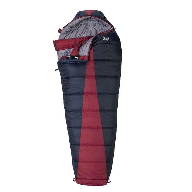 51723211RR Slumberjack Latitude Regular Zero Degree Sleeping Bag, Red (2 Pack) 1