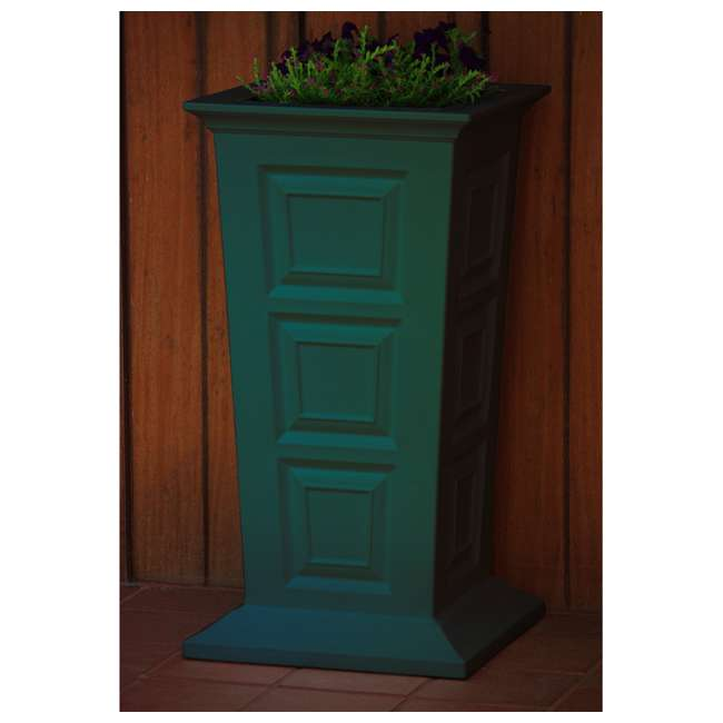 SV-P-GRN Good Ideas Savannah Outdoor Self Watering Tall Colonial Planter stand, Green 2