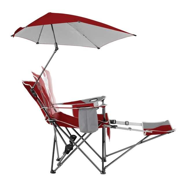 BRE03-620-01 Sport-Brella Umbrella Recliner Folding Chair, Red 4