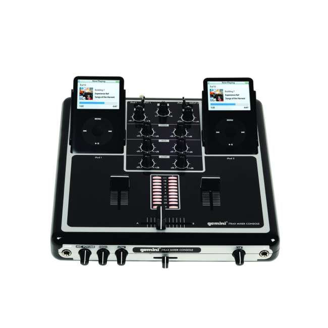 ITRAX-BLK Gemini iTRAX Dual iPod 2-Channel Mixer Console with USB | ITRAX-BLK
