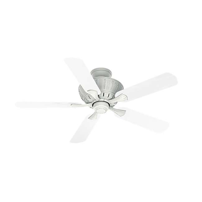 55062 Casablanca Coletti 54 Inch Indoor Cottage Style White Ceiling Fan with Downrods