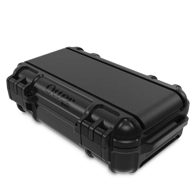 77-54442 OtterBox 3250 Series 0.9 Liter Small Lockable Waterproof Storage Drybox, Black