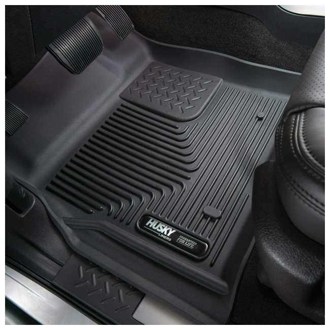 HUSKY-53491-OB Husky Liner X-act Contour Rear  Floor Liner for Ford F150 SuperCrew Cab 1