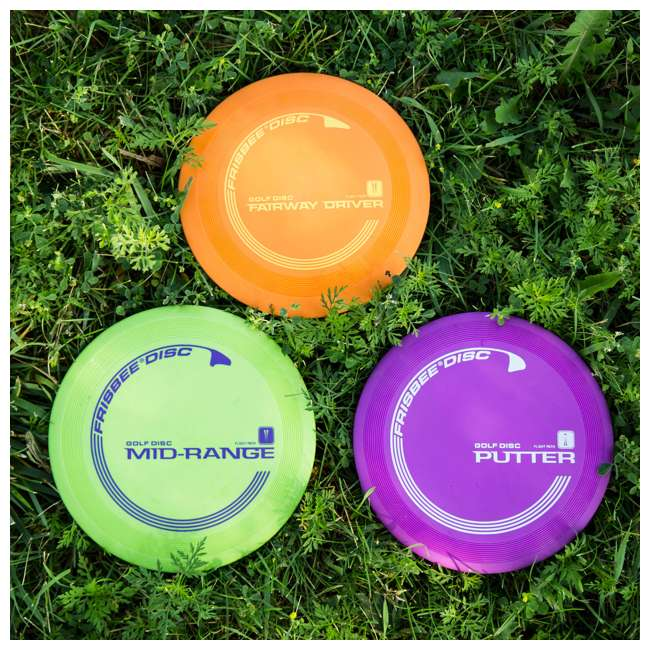 53311 Wham-O Official Frisbee Disc Golf Set, Blue 5