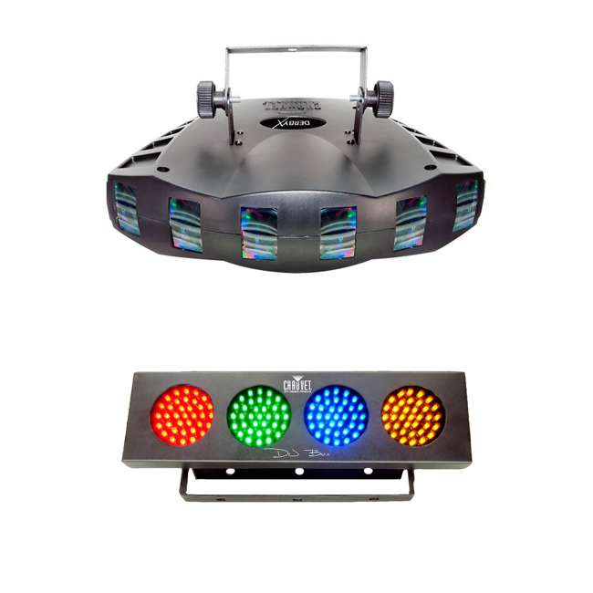 DERBY-X + DJBANK Chauvet DJ Derby X DMX-512 LED Strobe Lighting | Bank RGBA LED Wash Effect Light