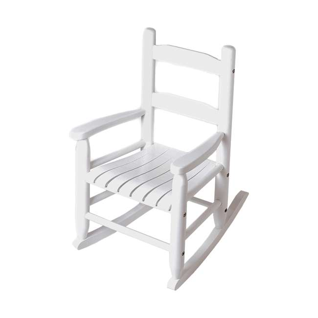 LP-555W Lipper Child's Wooden Rocking Chair, White