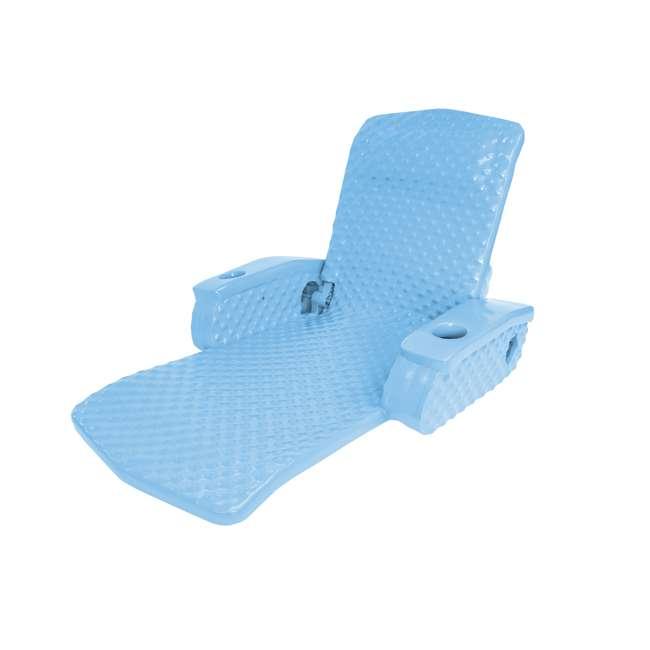 6400028-U-A TRC Recreation Super Soft Adjustable Pool Recliner Chair Float, Blue (Open Box)