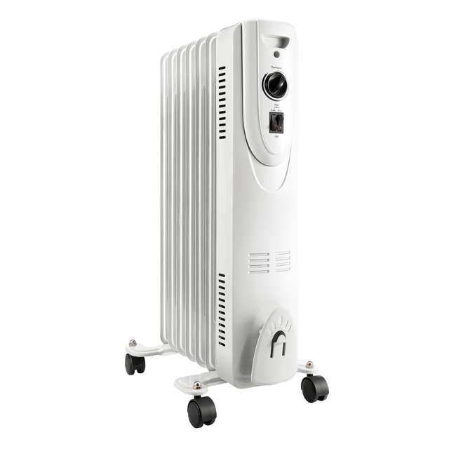 SH-37 Lifesmart SH-37 1500 Watt Oil Filled Portable Whole Room Radiator Heater, White