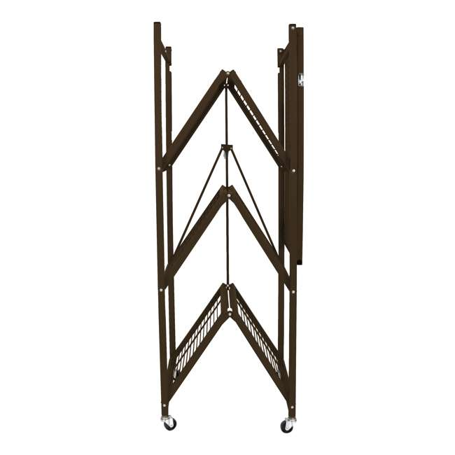 R5-VBW-2 Origami 4-Shelf Foldable Storage Racks, Vintage Bronze (Pair) 4