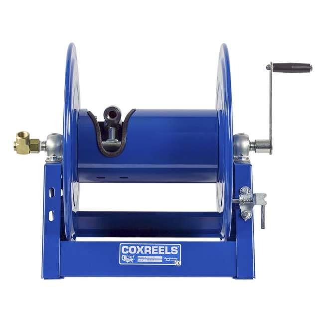 1125-4-100 Coxreels Steel Hand Crank Hose Reel 100 Foot Capacity, Blue 6
