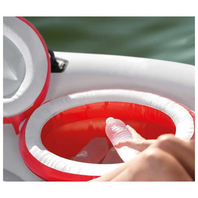 56296CA + 66639E Intex Inflatable Island Float Raft | Intex 120V Quick Fill AC Electric Air Pump 8