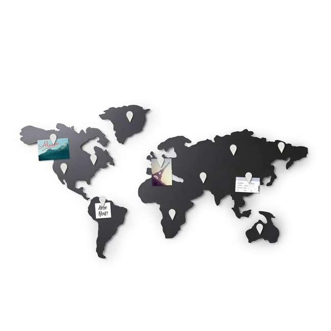 1008050-624 Umbra Mappit Metal World Map Wall Art Decor 1