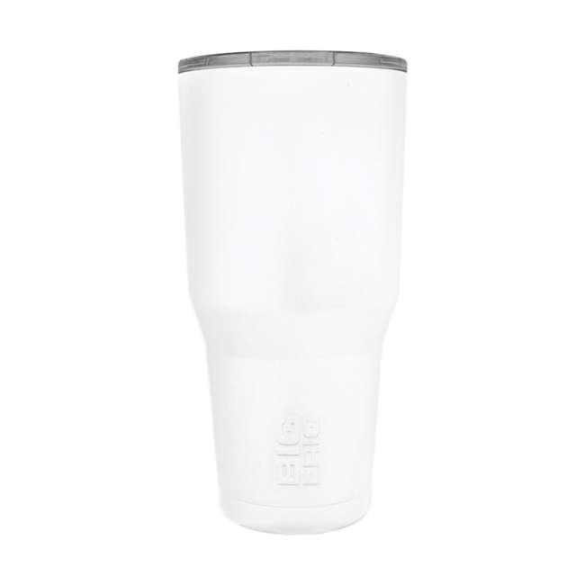 BFT30-WH Big Frig 30 Ounce Hot Cold Stainless Steel BPA Free Tumbler with Lid, White