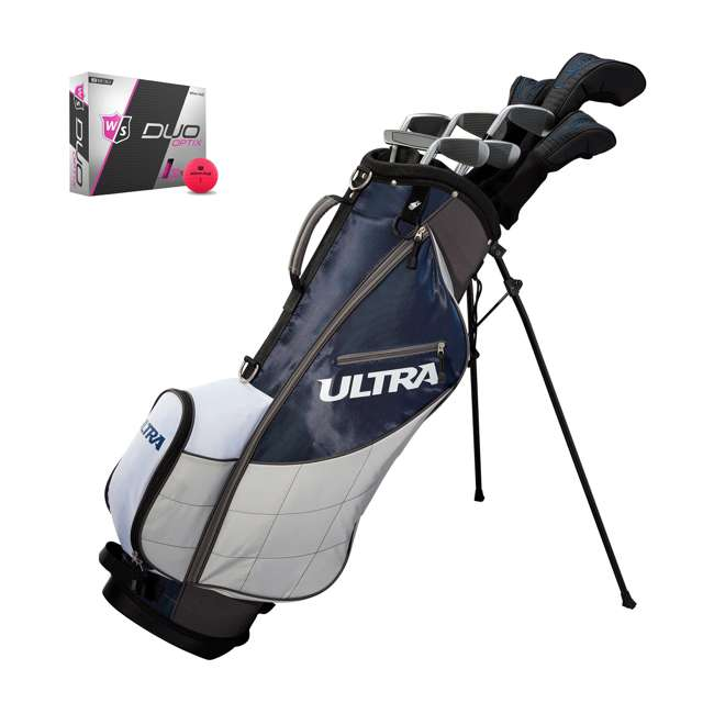 WGGC43600 + WGWP43500 Wilson Ultra Men's Right-Handed Complete Golf Club Set & Balls