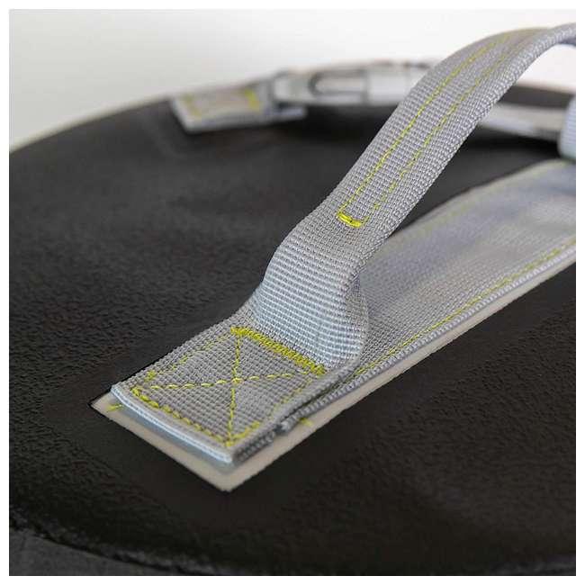 77-57794 Yampa 35 Liter Dry Duffle Waterproof Backpack Bag, Hazy Harbor Gray and Blue 4