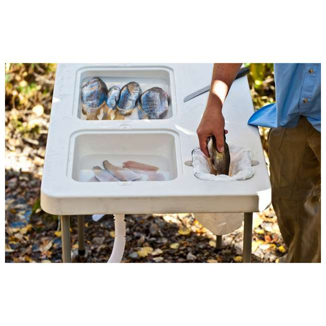 CCC-302 Coldcreek Outfitters Ultimate Portable Outdoor Prep Work Station Table w/ Sinks 1