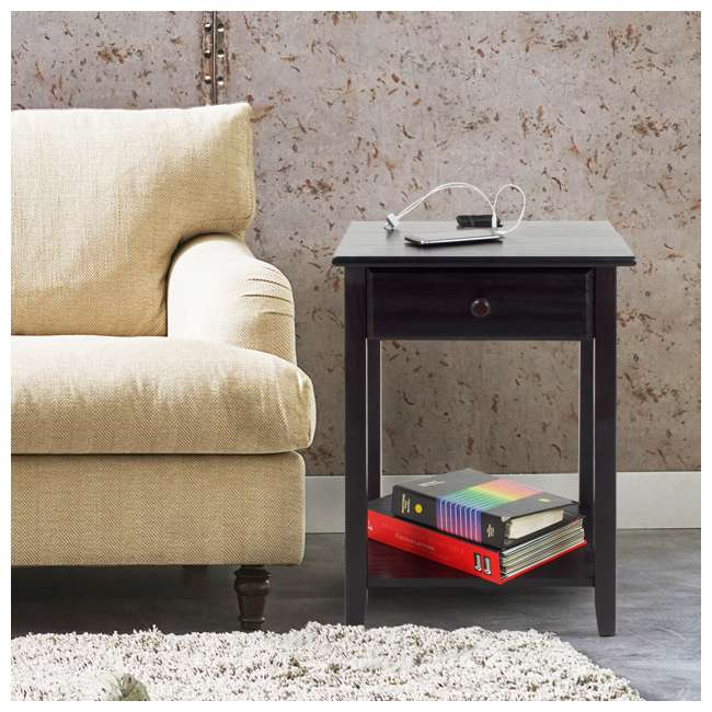 647-23 Casual Home Night Owl Nightstand with USB Ports 8