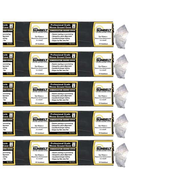 5 x DWT-SBLT6300 DeWitt DWT-SBLT6300 Sunbelt 3.2 Ounce Weed Barrier Fabric Cover, 6 x 300' 5 Pack