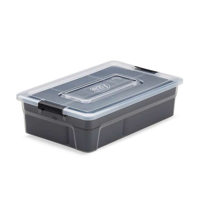 12 x FBA32233 Ezy Storage 5.6 Liter Sort It Container Box with Removable Tray Cups (12 Pack)