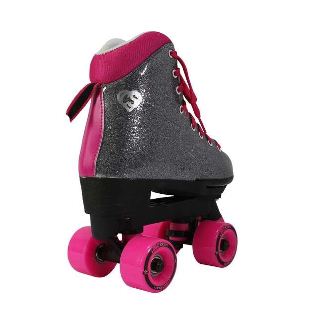 168222 Circle Society Bling Sizzling Pink Kids Skates, Sizes 3 to 7 4