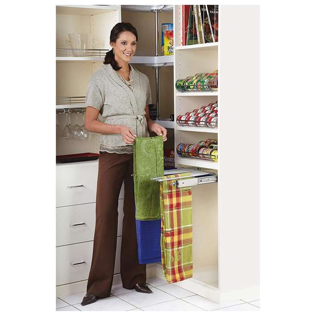 PSC-2414CR Rev-A-Shelf PSC-2414CR 24-inch Chrome Pullout Pants Rack for 13 Pairs of Pants 4