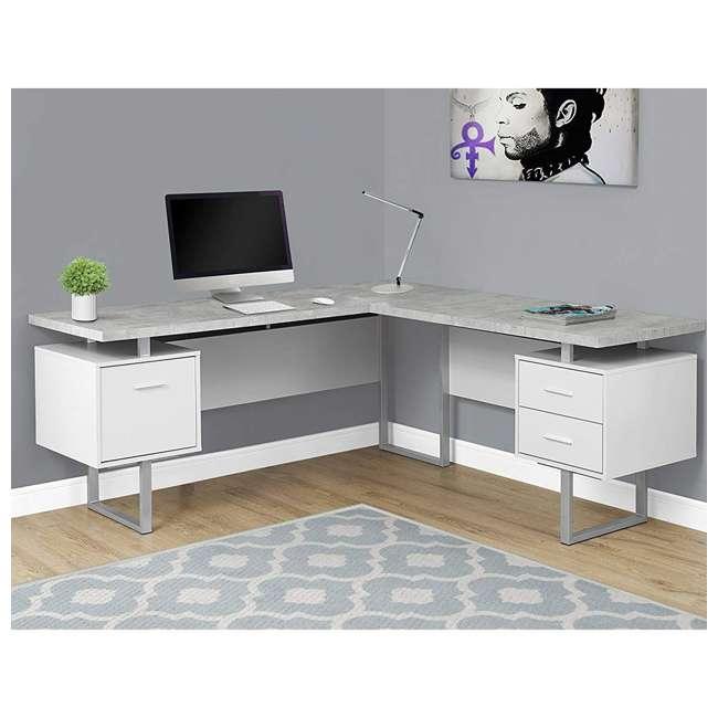 VM-7307 Monarch Specialties 70-Inch Computer Desk, White  1