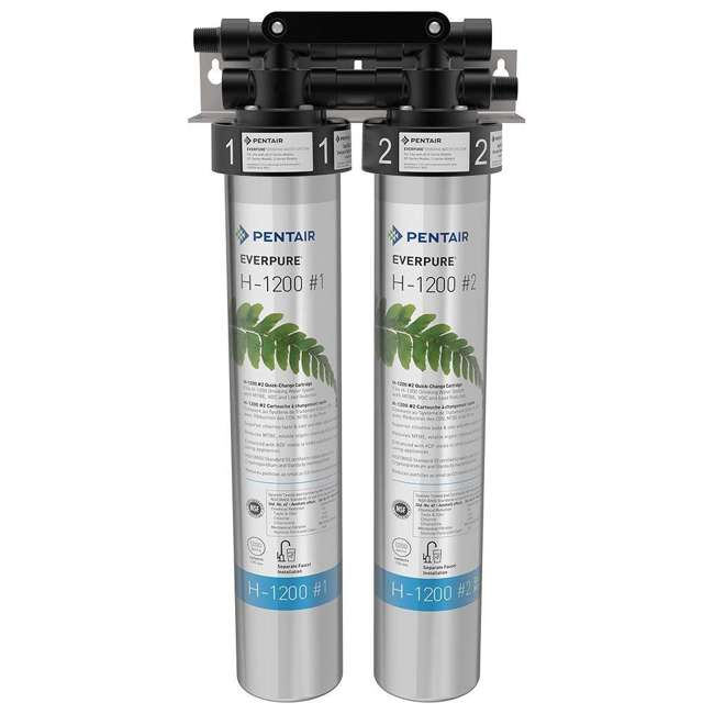 4 x EV928200 Pentair Everpure H-1200 Drinking Water Filter System (4 Pack) 1