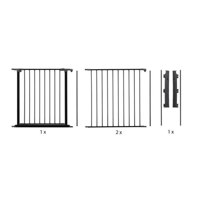 BBD-56226-10600 BabyDan Flex 35.4-87.8 Large Size Metal Safety Baby Gate & Room Divider, Black 4