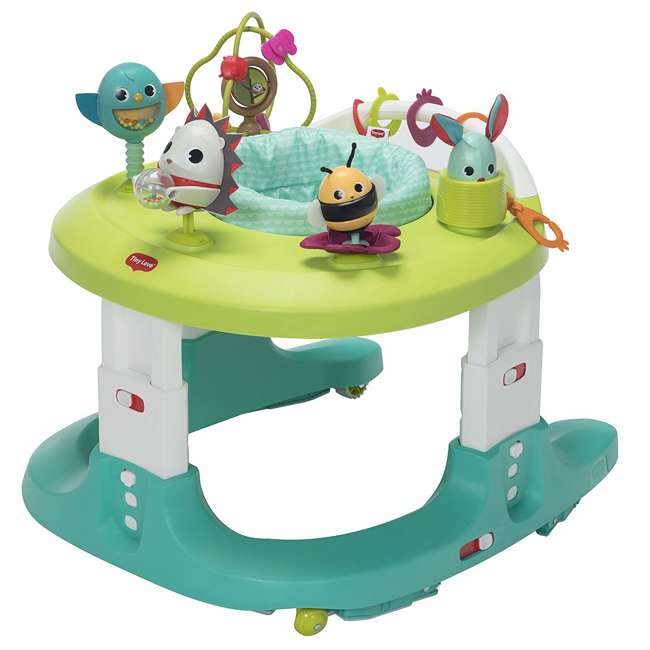 WA077ETT Tiny Love Meadow Days 4 in 1 Here I Grow Baby Mobile Activity Center, Green