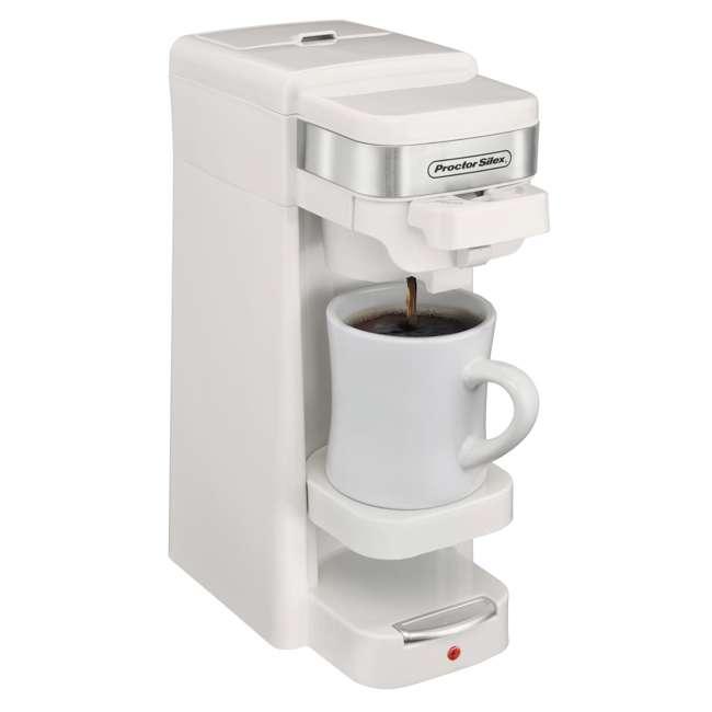 49978 Proctor Silex Single-Serve Compact Coffee Maker, White 1